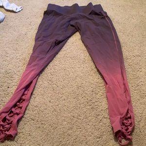 PINK ombré leggings size large